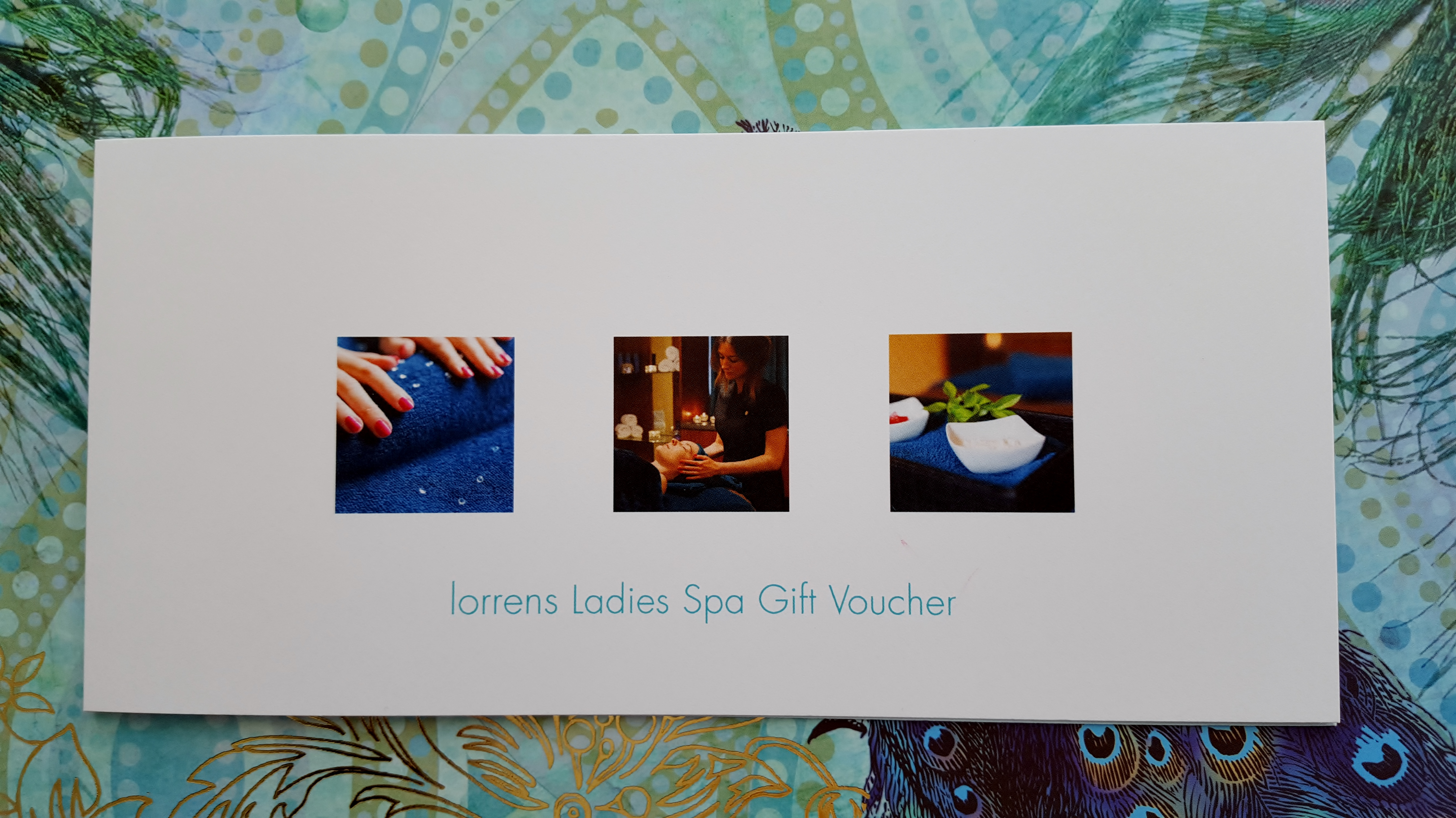 image of gift voucher at ladies only spa