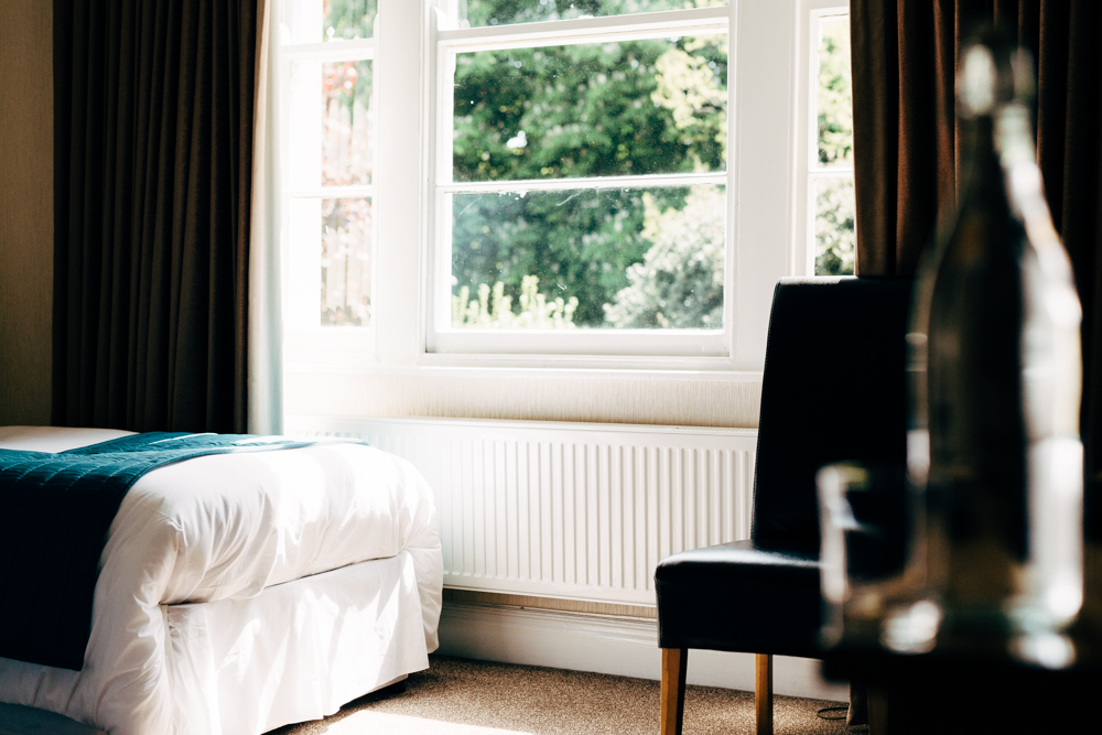 close up of relaxing guestroom with lovely views