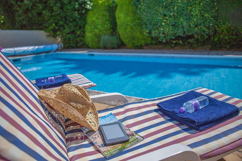 swimming pool in sunshine on spa break